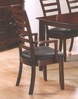 Ladder Back Dining Arm Chair in Merlot Finish AN-550ACR