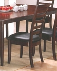 Ladder Back Dining Side Chair in Merlot Finish AN-550CR