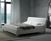 Leatherette Modern Bed in White Finish 44B145BD