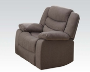 Light Brown Recliner Velvet Jacinta by Acme Furniture AC51417