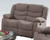 Light Brown Velvet Motion Loveseat Jacinta by Acme Furniture AC51416