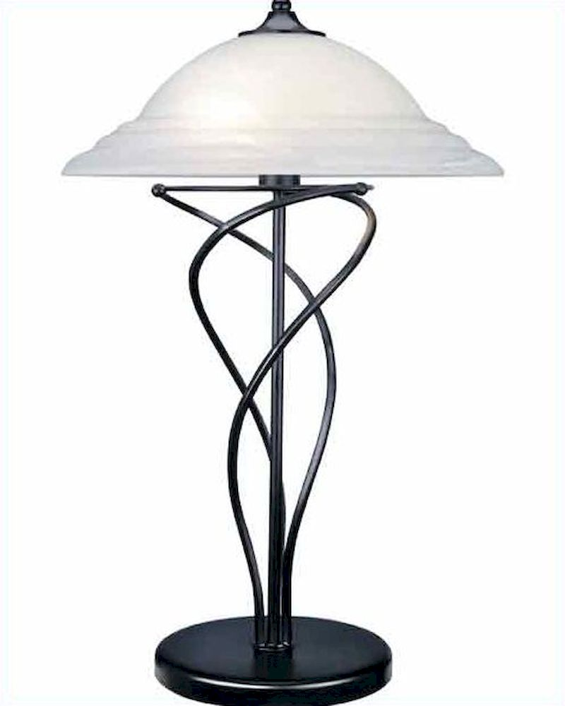 lite source black cloud with glass shade table lamp ls 3640blk. Black Bedroom Furniture Sets. Home Design Ideas