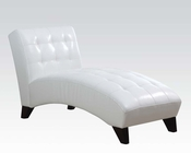 Lounge Chaise in White by Acme Furniture AC15036