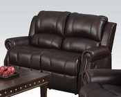 Loveseat in Brown Polished Microfiber Josef by Acme Furniture AC50776