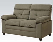 Loveseat in Brown Velvet Alicia by Acme Furniture AC51361