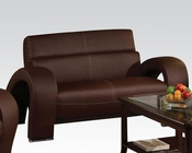 Loveseat in Chocolate Irisa by Acme Furniture AC51736
