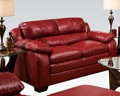 Loveseat in Soho Cardinal Finish Jeremy by Acme AC50596
