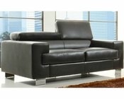 Loveseat Vernon in Black by Homelegance EL-9603BLK-2