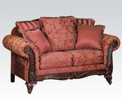 Loveseat w/ 5 Pillows Fairfax Magenta by Acme Furniture AC50331