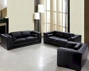 Luxurious Black or White Leather Sofa Set 44L0697