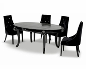Luxurious Dining Set w/ Crocodile Transitional Table 44D831-202-SET