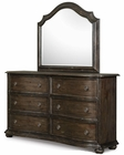 Magnussen Drawer Dresser and Shaped Mirror Muirfield MG-B2258-20-45