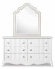 Magnussen Drawer Dresser and Upholstered Shaped Mirror MG-Y2194-45
