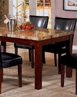 Marble Top Dining Table in Rich Cherry CO-120311