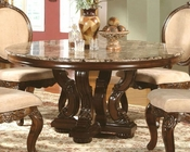 Marble Top Round Dining Table in Cherry MCFRD0017-6060