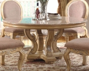 *Marble Top Round Dining Table in White MCFRD0018-6060