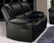 Marthena Furnishing Black Finish Loveseat MF-2016L