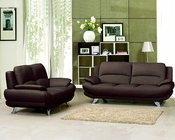 Marthena Furnishing Chocolate Finish Sofa Set MF-T282