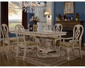 MCF Furnishings Cream Dining Set MCFD9301