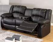 MCF Furniture Black Reclining Loveseat MCFSF3591L