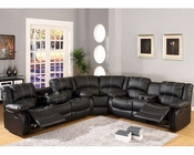 MCF Furniture Black Sectional Reclining Sofa Set MCFSF3591