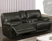 MCF Furniture Reclining Black Loveseat MCFSF3609L