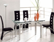 Metal Dining Set w/Glass Top OL-DT06s