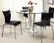 Metal Dining Set w/Glass Top OL-DT20s