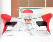 Metal Dining Set w/Glass Top OL-DT29s