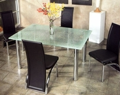 Metal Dining Set w/Glass Top OL-DT75s