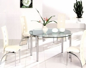 Metal Dining Set w/Glass Top OL-DT92s