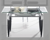 Metal Dining Table w/Glass Top OL-DT17