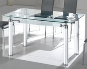 Metal Dining Table w/Glass Top OL-DT34