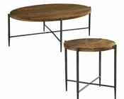 Metal & Wood Coffee Table Set by Hekman HE-27495-SET