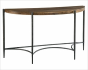 Metal & Wood Demilune Table by Hekman HE-27498
