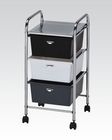 Mobile Storage Cart w/ 3 Drawers by Acme Furniture AC92104