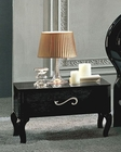 Modern 1 Drawer Night Stand in Black Made in Italy 33B113