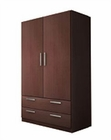 Modern 2 Door Wardrobe in Dark Brown Finish Made in Spain 33B219