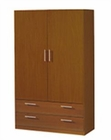 Modern 2 Door Wardrobe in Light Cherry Finish Made in Spain 33B209