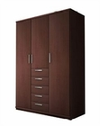 Modern 3 Door Wardrobe in Dark Brown Finish Made in Spain 33B2110