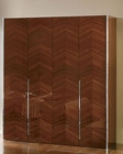 Modern 4 Door Wardrobe in Dark Cherry Finish Made in Italy 33B38