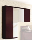 Modern 4 Door Wardrobe in Dark Cherry Made in Italy 33B87