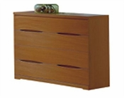 Modern 4 Drawer Dresser in Light Cherry Finish Made in Spain 33B205