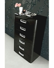 Modern 6 Drawer Chest in Black Made in Italy 33B97
