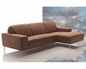 Modern Africa Leather Sectional Sofa Made In Italy 44L6026
