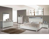 Modern Ambient White Bedroom Set 44B170SET