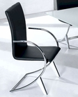 Modern Arm Chair Moderno in Black European Design 33D193 (Set of 2)