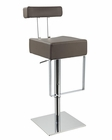 Modern Barstool Upholstered in Eco-Leather 44D1054N