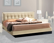 Modern Bed in Beige Finish Made in Italy 33B102
