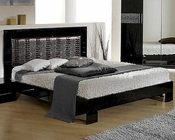 Modern Bed in Black/ Gray Finish Made in Italy 44B5112BG